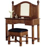Home Styles Marco Island Mahogany Vanity Bench
