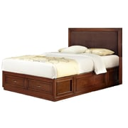 "Home Styles 56"" Mahogany Solids Duet Platform Queen Panel Bed, Brown Microfiber Inset"