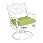 Home Styles Biscayne Cushioned Swivel Chair Aluminum Armchair