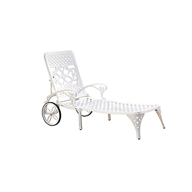 Home Styles Biscayne Cast Aluminum Chaise Lounge Chair