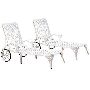 Home Styles Biscayne Chaise Cast Aluminum Lounge Chairs
