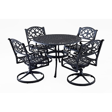 Home Styles Biscayne Black 5PC Dinning Set