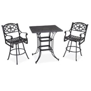 Home Styles 42 Aluminum Rectangle 3 Piece Bistro Set