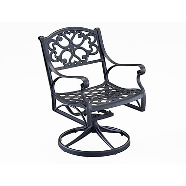 Home Styles Biscayne Swivel Solid Cast Aluminum Arm Chair