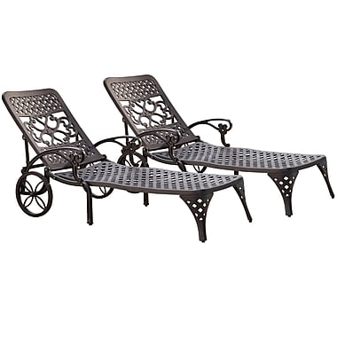 Home Styles Biscayne Chaise Lounge Chairs Aluminum