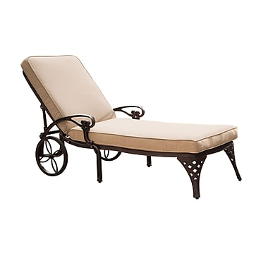 Home Styles Biscayne Chaise Aluminum Lounge Chair with Cushion