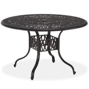 Home Styles 42 Stainless steel Floral Blossom Round Dining Table, Gray
