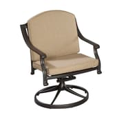 Home Styles Covington Cushioned Swivel Patio Aluminum Dining Chair