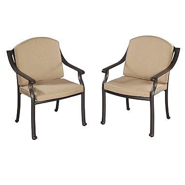 Home Styles Covington Cushioned Aluminum Arm Chair