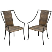 Home Styles Laguna Wicker Synthetic Weave Dining Chairs