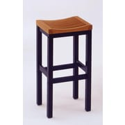Home Styles 29 Black & Oak Bar Solid Asian Hardwood Bar Stool
