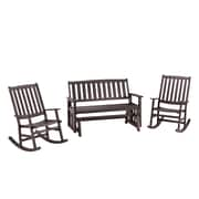 Home Styles Bali Hai Outdoor Glider Bench & 2 Rocking Chairs