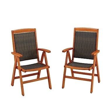 Home Styles Bali Hai Outdoor Dining Synthetic Wood Chair Pair