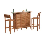 Home Styles 29 Wood Bar and Two Stools Set