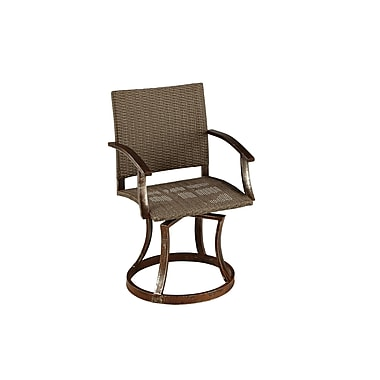 Home Styles Urban Outdoor Synthetic Weave & Meta Swivel Chairs