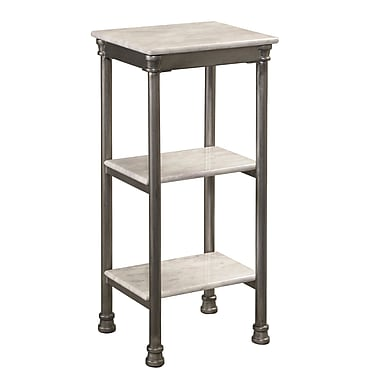 Home Styles The Orleans Laminate Marble Metal Steel 3-Tier Shelf