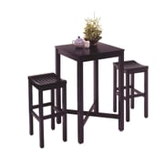 Home Styles Hardwood 3-Piece Pub Set Black Finish