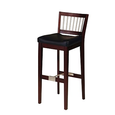 Home Styles Upholstered Cherry Asian hardwoods Bar Stool