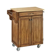 Home Styles 35.5 Solid Hardwood and Engineered Wood Create-a-Cart Cuisine Cart