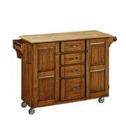 "Home Styles 35.5"" Solid Hardwood and Engineered Wood Cabinet Kitchen Cart"