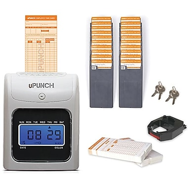 uPunch HN5000SC Electronic Punch Card Time Clock Bundle