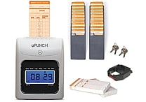 uPunch Electronic Punch Card Time Clock Bundle (HN5000SC)
