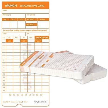 uPunch – Cartes de temps HNTC2100, paq./100