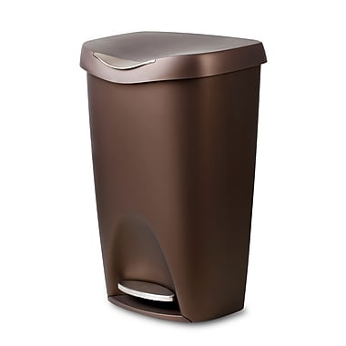 Umbra Brim 50L Step Can, Bronze