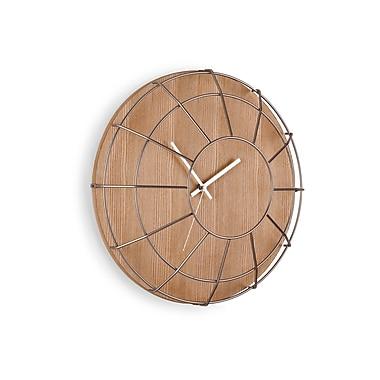 Umbra Cage Wall Clock, Natural and Nickel