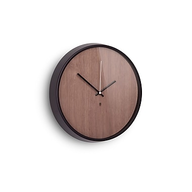 Umbra Madera Wall Clock, Black and Walnut