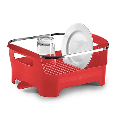 Umbra Basin Dish Rack, Red