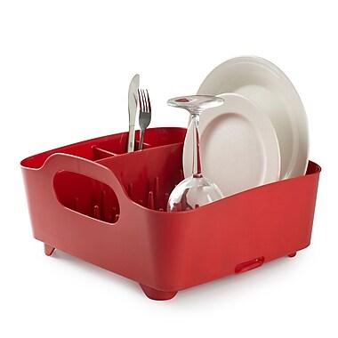 Umbra Tub Dish Rack, Red