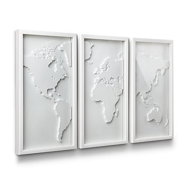 Umbra Mapster Wall Decor, Set of 3, White