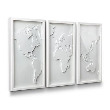 Umbra – Décor mural Mapster, ensemble de 3, blanc