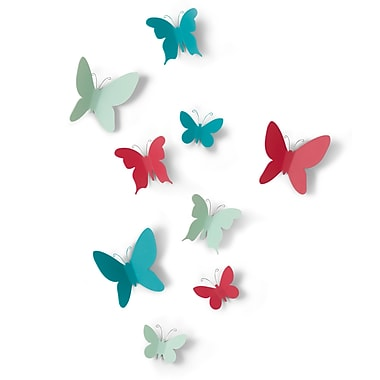 Umbra Mariposa Wall Decor, Set of 9, Assorted Colours, 3/Pack