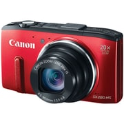 Canon® PowerShot® SX280 HS 12.1MP Compact Digital Camera, Red