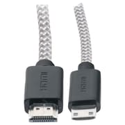 iessentials IE-FC-HDMINI 3' Tangle Free HDMI To Mini HDMI Cable With Clips, White