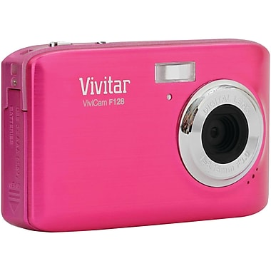 Vivitar® ViviCam F128 14.1MP Digital Camera, Pink