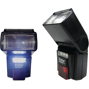 Vivitar® VIV-DF-7000-NIK Bounce/Zoom/Swivel DSLR Flash and LED Video Light For Nikon Camera