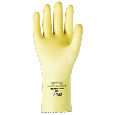 Ansell® Canners & Handlers Unlined Latex Gloves, Size 6.5