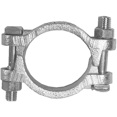 Dixon® Plated Iron Double Bolt Hose Clamp With Saddles, 60 ft. lbs.