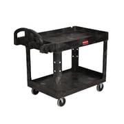 Rubbermaid® Heavy Duty 2-Shelf Utility Cart With Lipped Shelf, Beige
