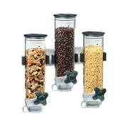 Zevro 13 Oz. Triple Canister Smart Space Dry Food Dispenser