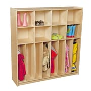 Wood Designs Contender 8-Section Baltic Birch Neat and Trim Locker; Ships Ready to Assemble