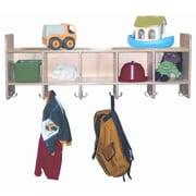 Wood Designs 5-Section Wall Locker