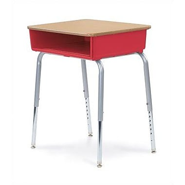 Virco Open Front Student Desk; Blueberry