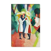iCanvas 'Three Girls' by August Macke Painting Print on Canvas; 12'' H x 8'' W x 0.75'' D