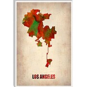 iCanvas 'Los Angeles Watercolor Map' by Naxart Graphic Art on Canvas; 60'' H x 40'' W x 1.5'' D