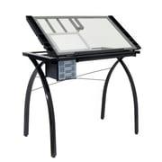 Studio Designs Futura Station Glass 43; Black / Clear Glass