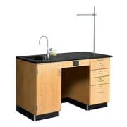 DWI Work Desk 36H x 60W x 30D Epoxy, Oak Wood